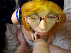 #blonde #cosplay #cute #eyes #fuck #glasses #nerd #pircing #suck #teen #wig