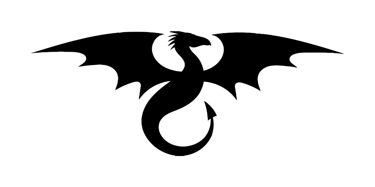 Black And Red Dragon Sticker