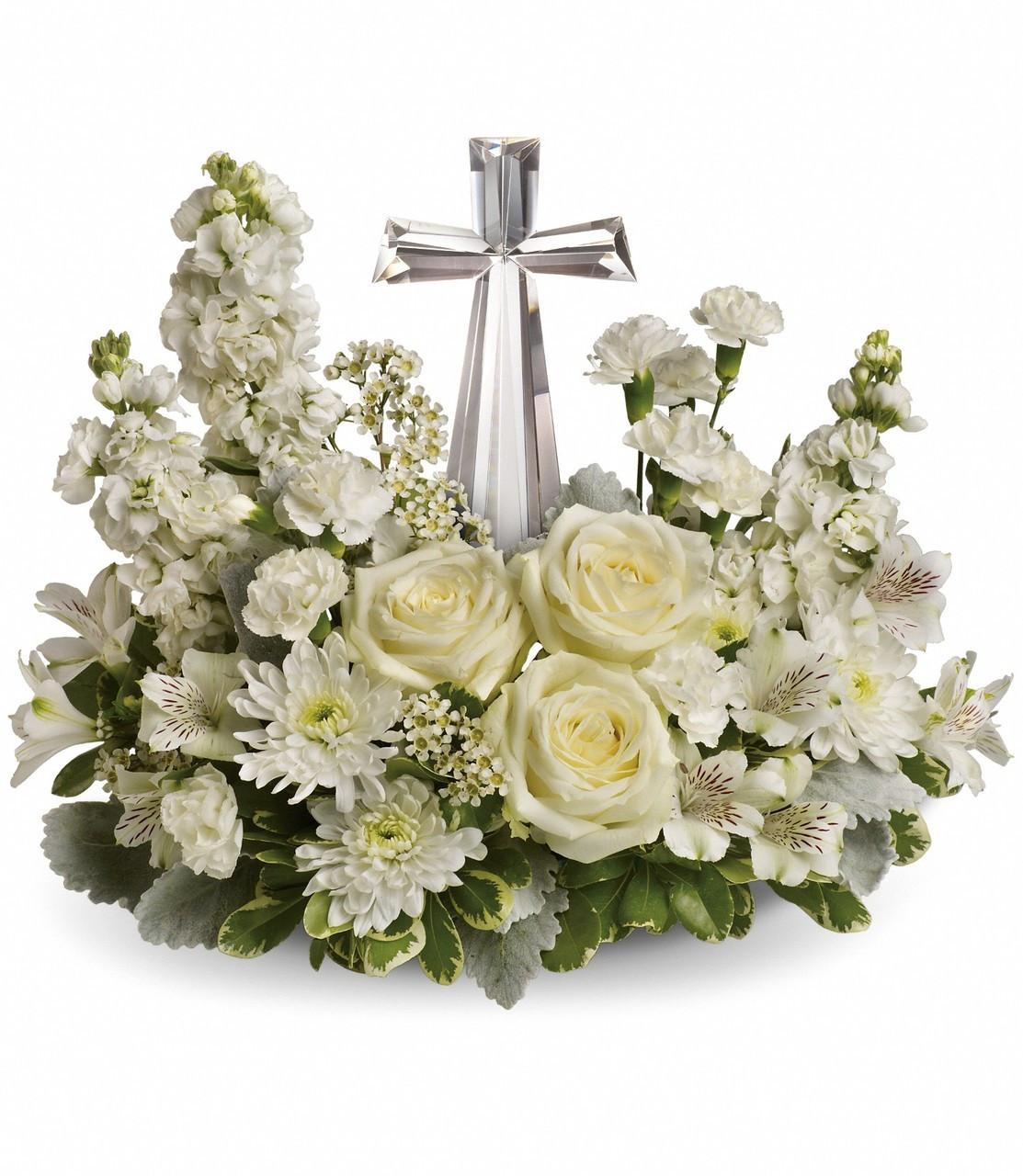 Cross funeral flowers clip art izmirmasajfo