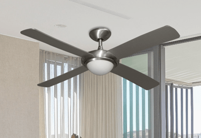 Starfire 56 in  Brushed Aluminum Ceiling Fan with LED Light   Dan s     52  Luna Indoor Outdoor Ceiling Fan and Light in Brushed Aluminum with  Remote Control