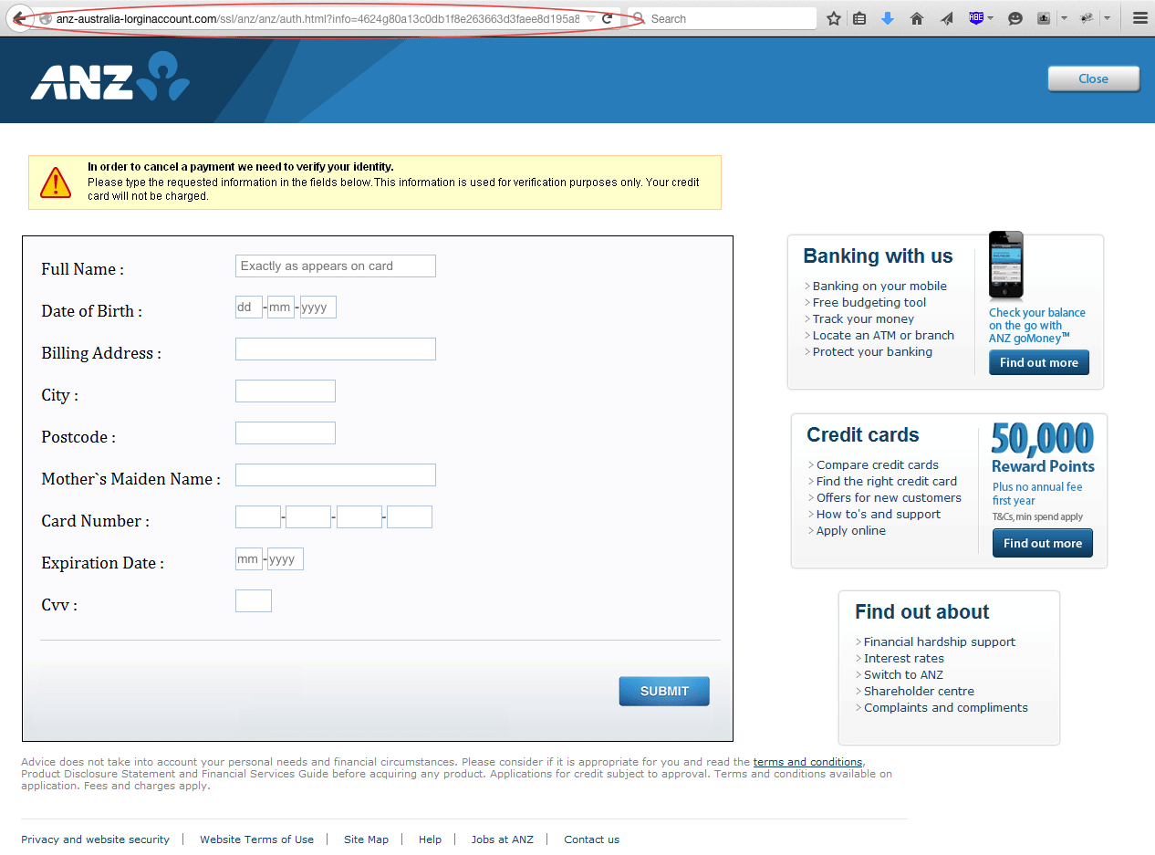 Anz Personal Online Banking Log