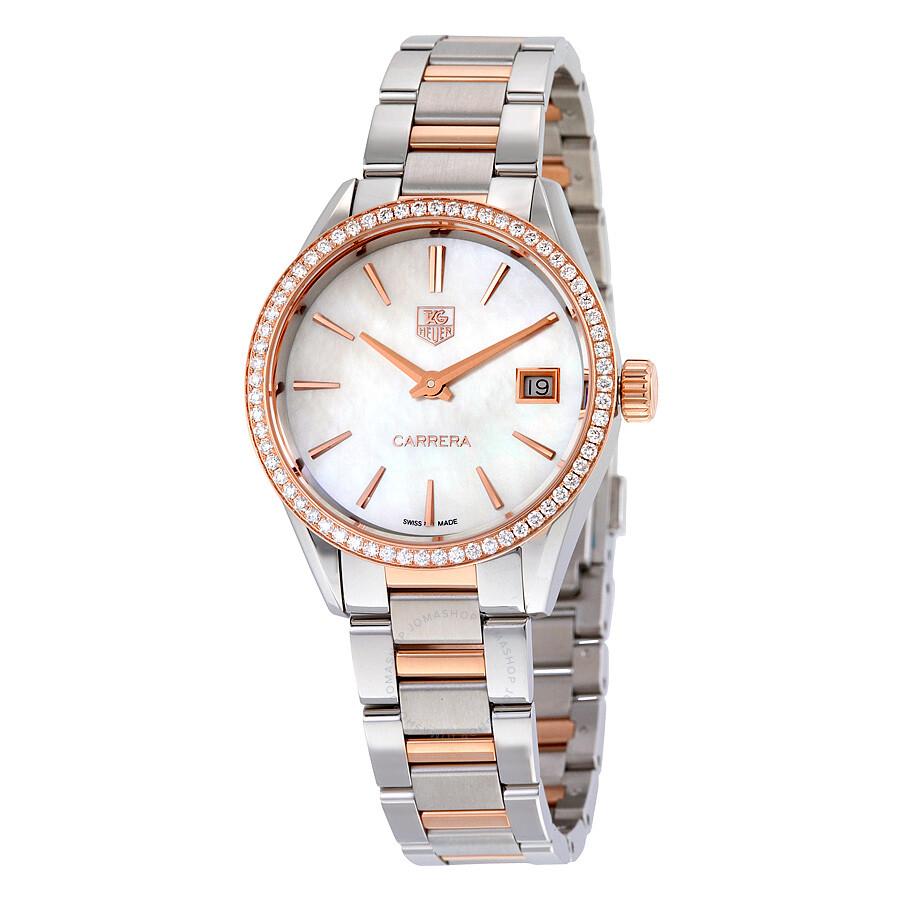 Tag Heuer Carrera Diamond Ladies Watch WAR1353.BD0779 ...