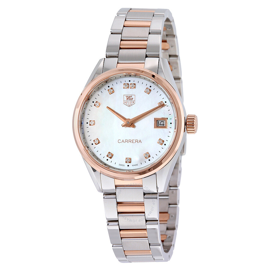 Tag Heuer Carrera Mother of Pearl Dial Ladies Watch ...