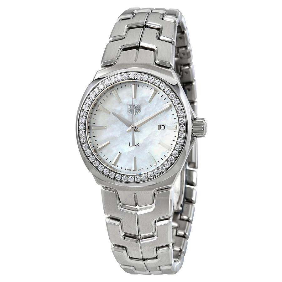 Tag Heuer Link Mother of Pearl Diamond Ladies Watch ...