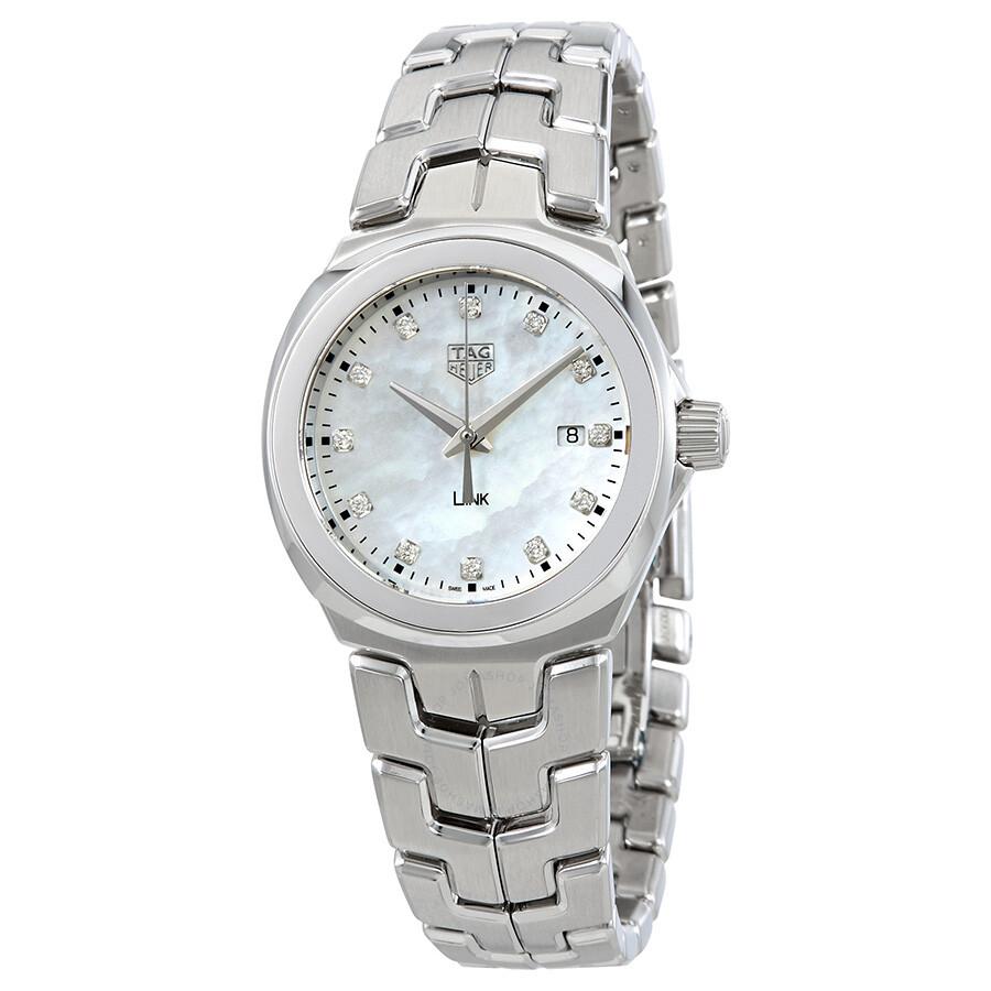 Tag Heuer Link Mother of Pearl Diamond Dial Ladies Watch ...