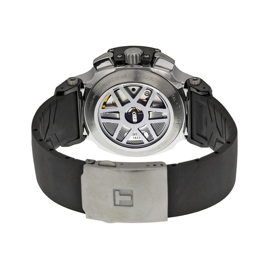 Tissot T Race Chronograph Automatic Black Polyurethane Men