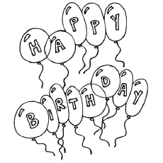 coloring pages happy birthday # 8