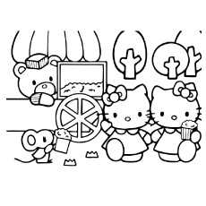 hello kitty free coloring pages # 83