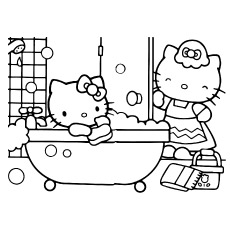 free printable hello kitty coloring pages # 3