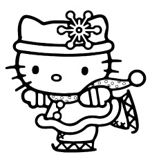 hello kitty free coloring pages # 7