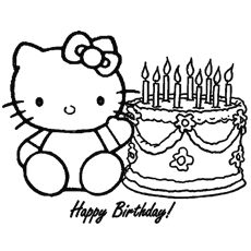 hello kitty free coloring pages # 15