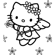 hello kitty free coloring pages # 13