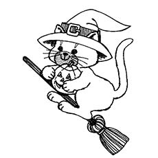 black cat coloring page # 20