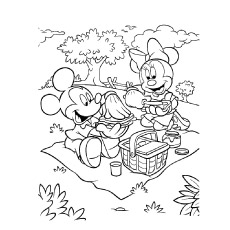 printable minnie mouse coloring pages # 11