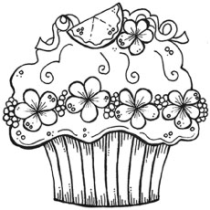 cupcakes coloring pages # 1