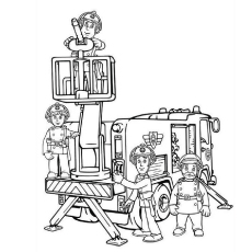fireman coloring page # 34