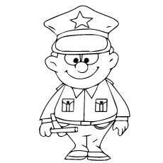 policeman coloring page # 0