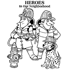 fireman coloring page # 15