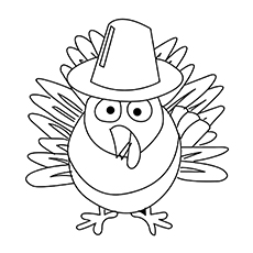 thanksgiving turkey coloring page # 12