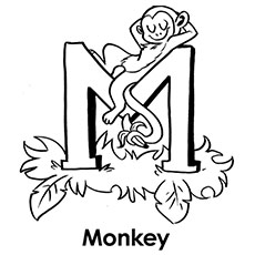 letter m coloring page # 13