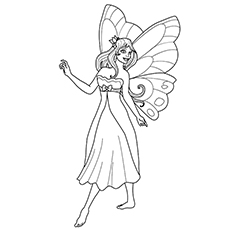 fairy princess coloring pages # 47