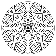 geometric coloring page # 0