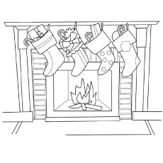 stocking coloring pages # 21