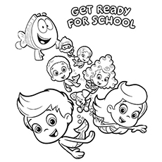 bubble guppies coloring page # 1