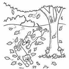 fall coloring pages printable free # 4