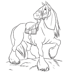 horse coloring pages free # 1