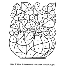 printable coloring pages of flowers # 8