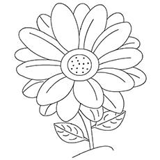 free coloring pages flowers # 4