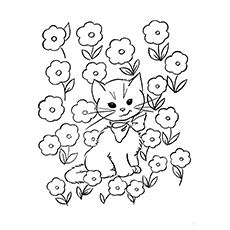free cat coloring pages # 2