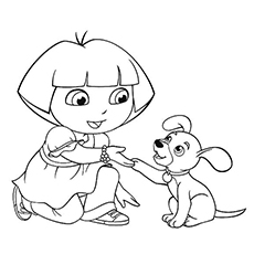 printable puppy coloring pages # 74