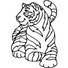 coloring pages of tigers # 1