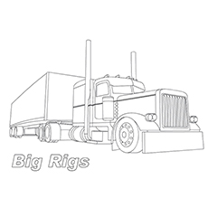 big truck coloring pages # 0