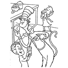 the cat in the hat coloring pages # 8