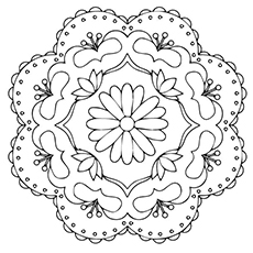 rangoli coloring pages # 2