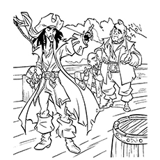 pirates of the caribbean coloring pages # 6