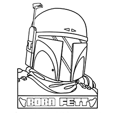 boba fett coloring page # 11