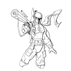 boba fett coloring page # 39