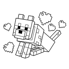 minecraft coloring pages to print # 1