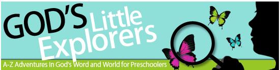 Educational Freebie: God's Little Explorers Preschool ...