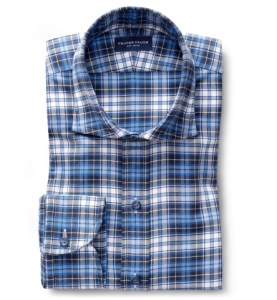 Navy Royal and White Plaid Tailor Made Shirt by Proper Cloth
