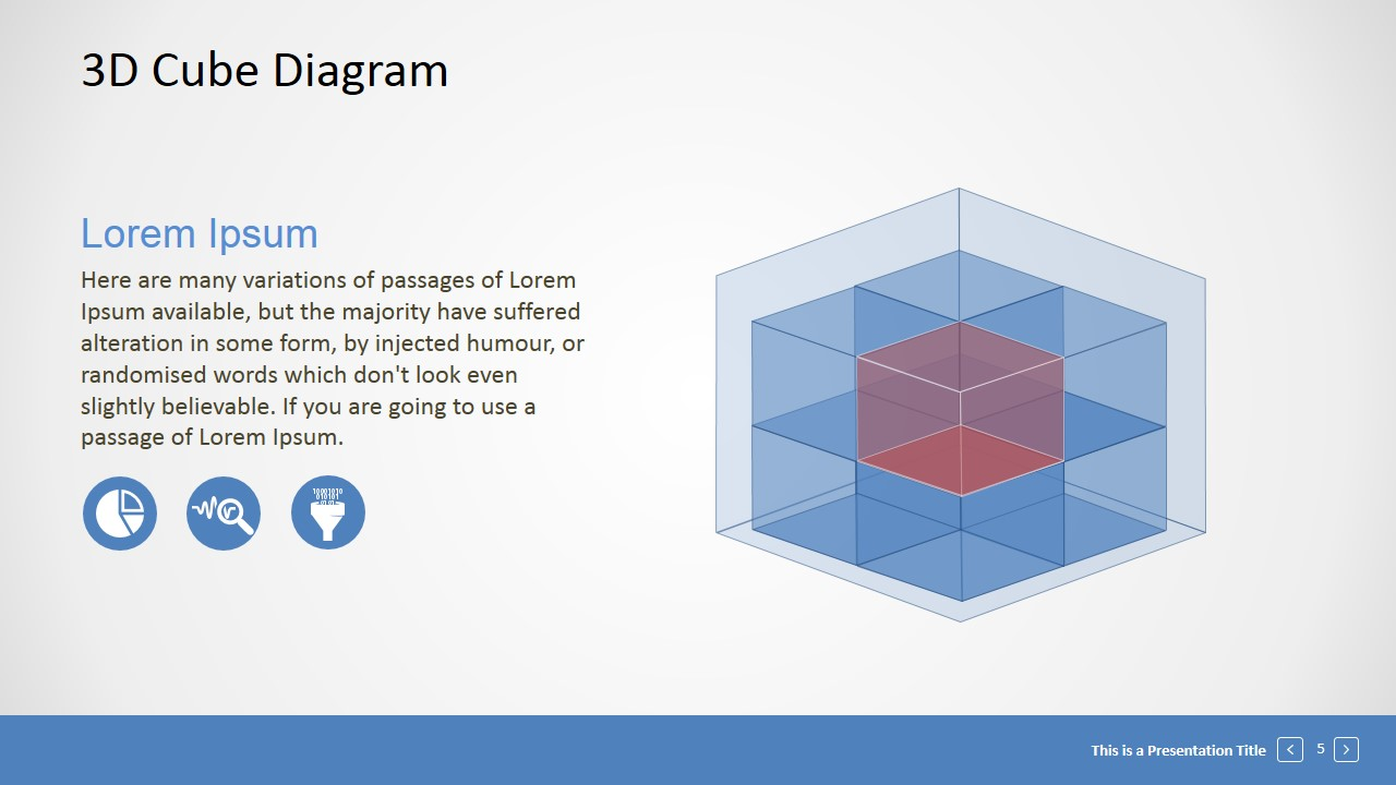 Editable 3d Cube Presentation Template Slidemodel