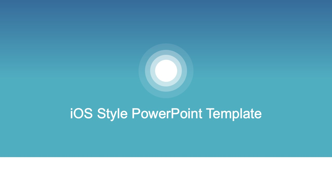 iOS Style PowerPoint Background Template   SlideModel PPT Template Based on iOS Style