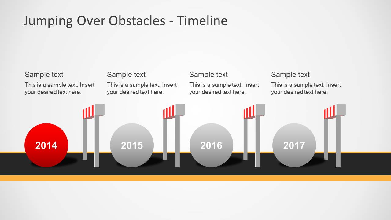 Jumping Over Obstacles Powerpoint Template Slidemodel