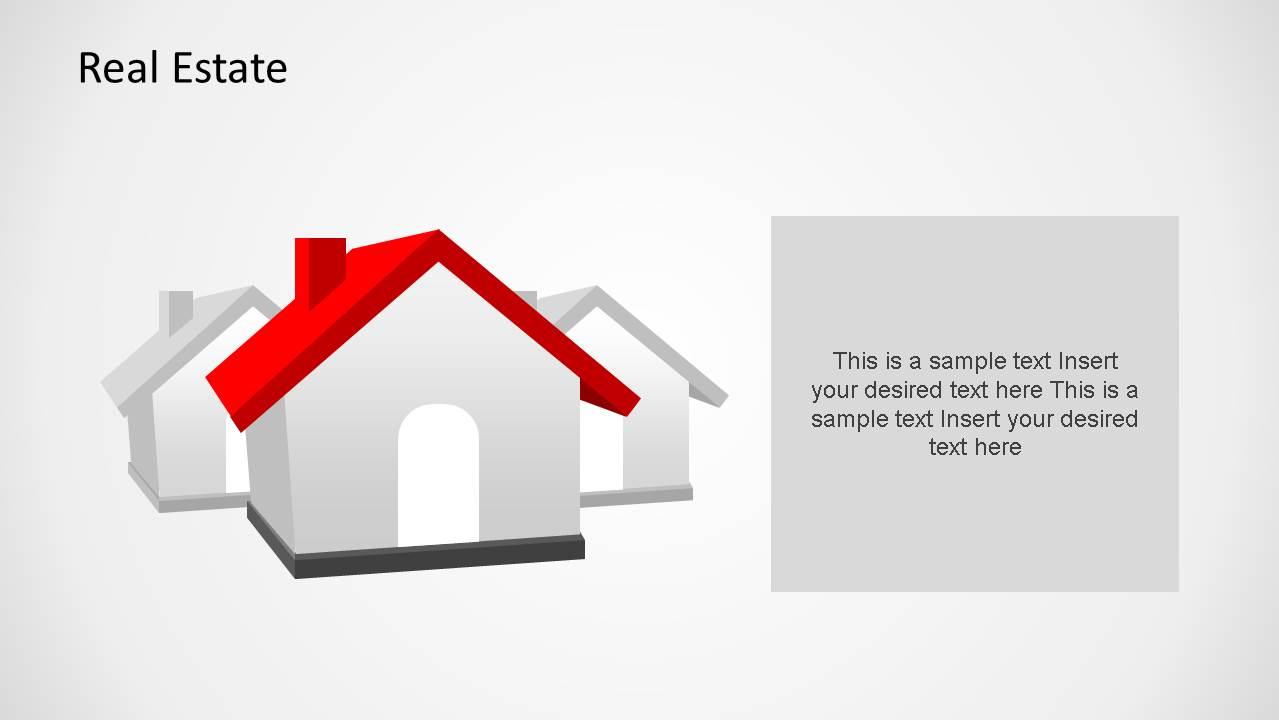 3d House Clipart Powerpoint Shape Slidemodel