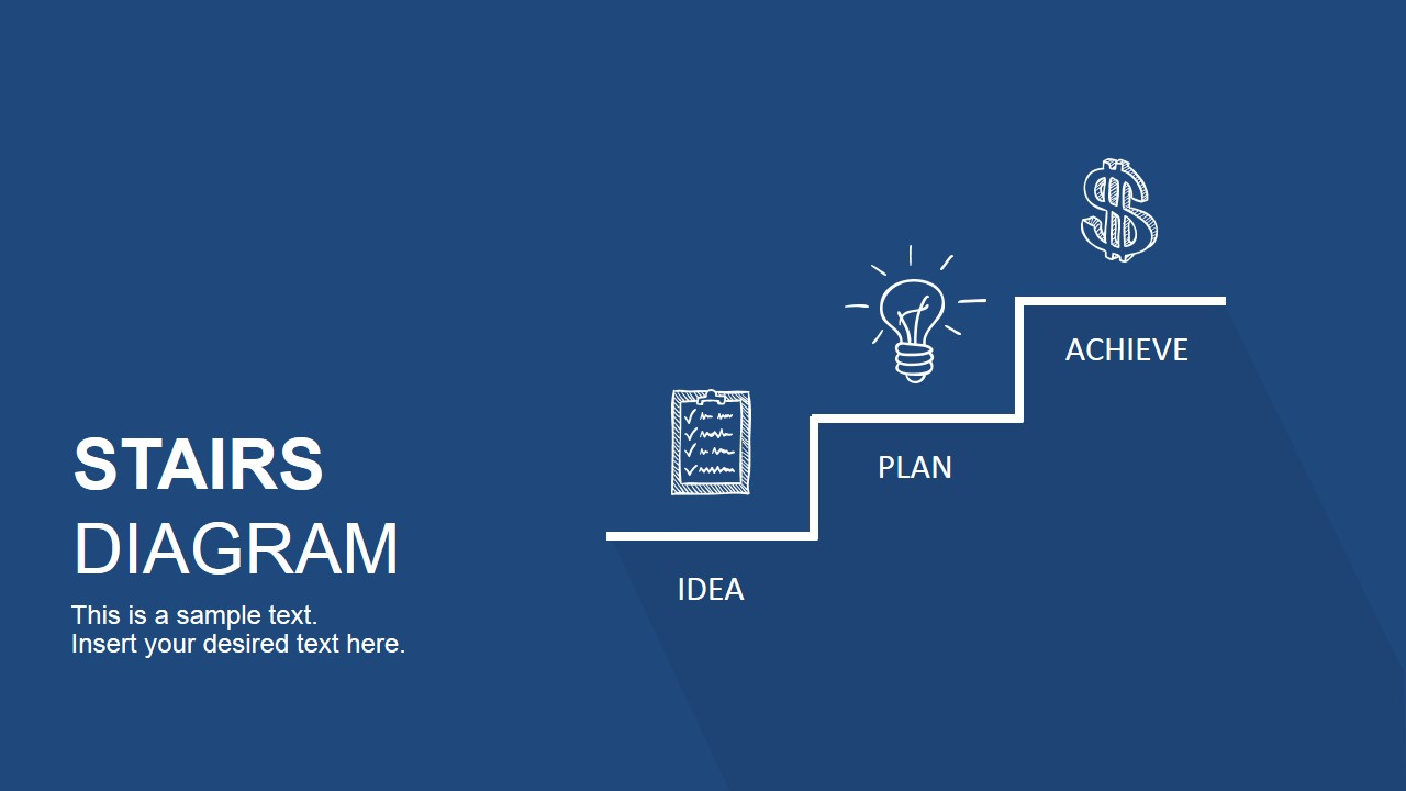 Stairs Diagram Powerpoint Template Slidemodel