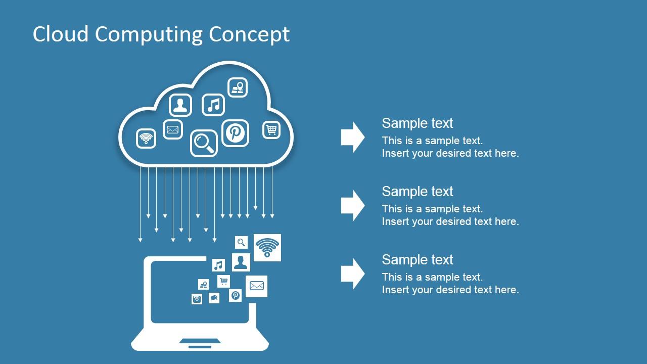 Cloud Computing Concept Design For Powerpoint Slidemodel